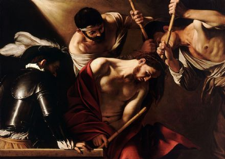 Caravaggio, Michelangelo Merisi da: The Crowning with Thorns. Fine Art Print.  (002063)